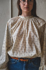 LEONA TOP IN MUSLIN BLOCK PRINT
