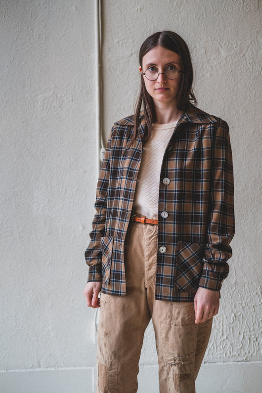 VINTAGE WOOL PLAID SHIRT 02