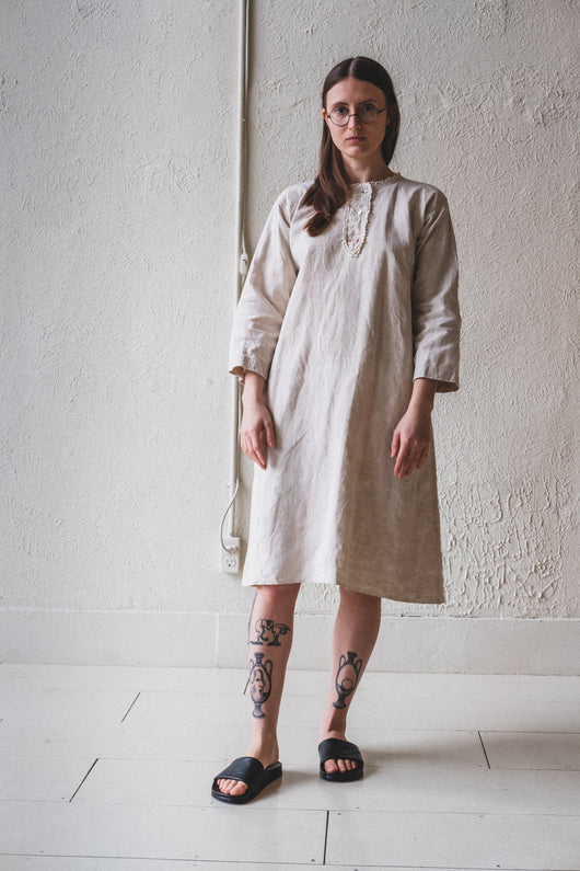 VINTAGE FRENCH TUNIC DRESS