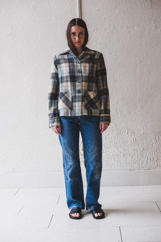 VINTAGE WOOL PLAID SHIRT 01