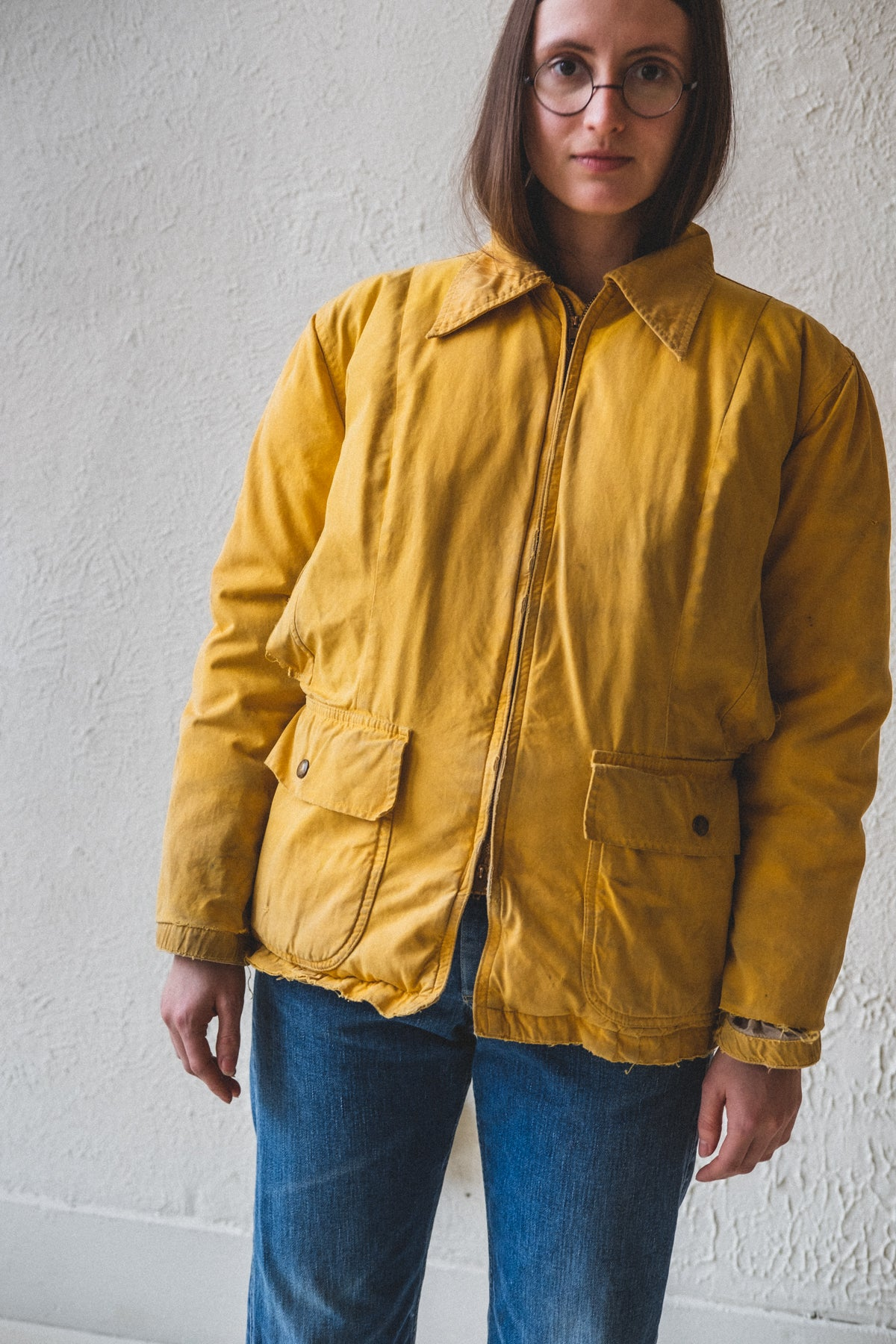 VINTAGE YELLOW DOWN JACKET