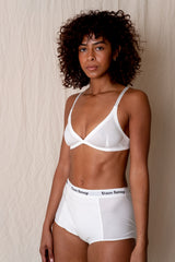 CLASSIC BRA IN WHITE CRISP COTTON