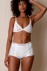 HIGH WAIST LOGO BRIEF IN WHITE