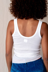 SUPER FINE RIB UNDERSHIRT IN WHITE