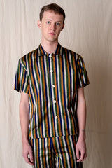 SILK STRIPE CRAIGY SHIRT