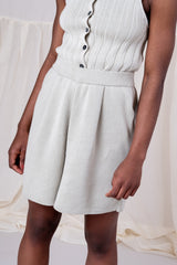 PLEATED KNIT SHORT