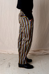 SILK STRIPE TROUSER