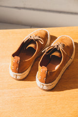 ESPADRILLE HAND SEWN COURT IN TAN