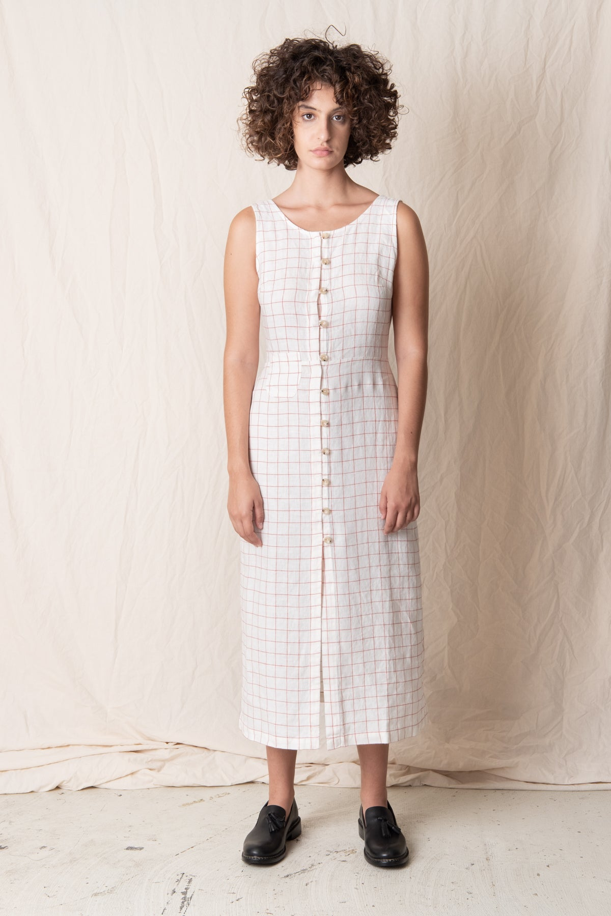 GALATEA CHECK DRESS