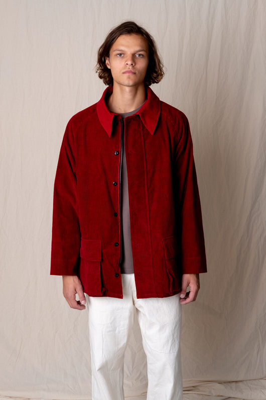 GENTLE JACKET IN MADDER CORDUROY