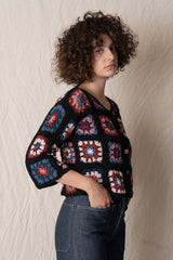 TEAPOT CROCHETED CARDIGAN