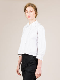 VINTAGE EDWARDIAN WHITE SHIRT A