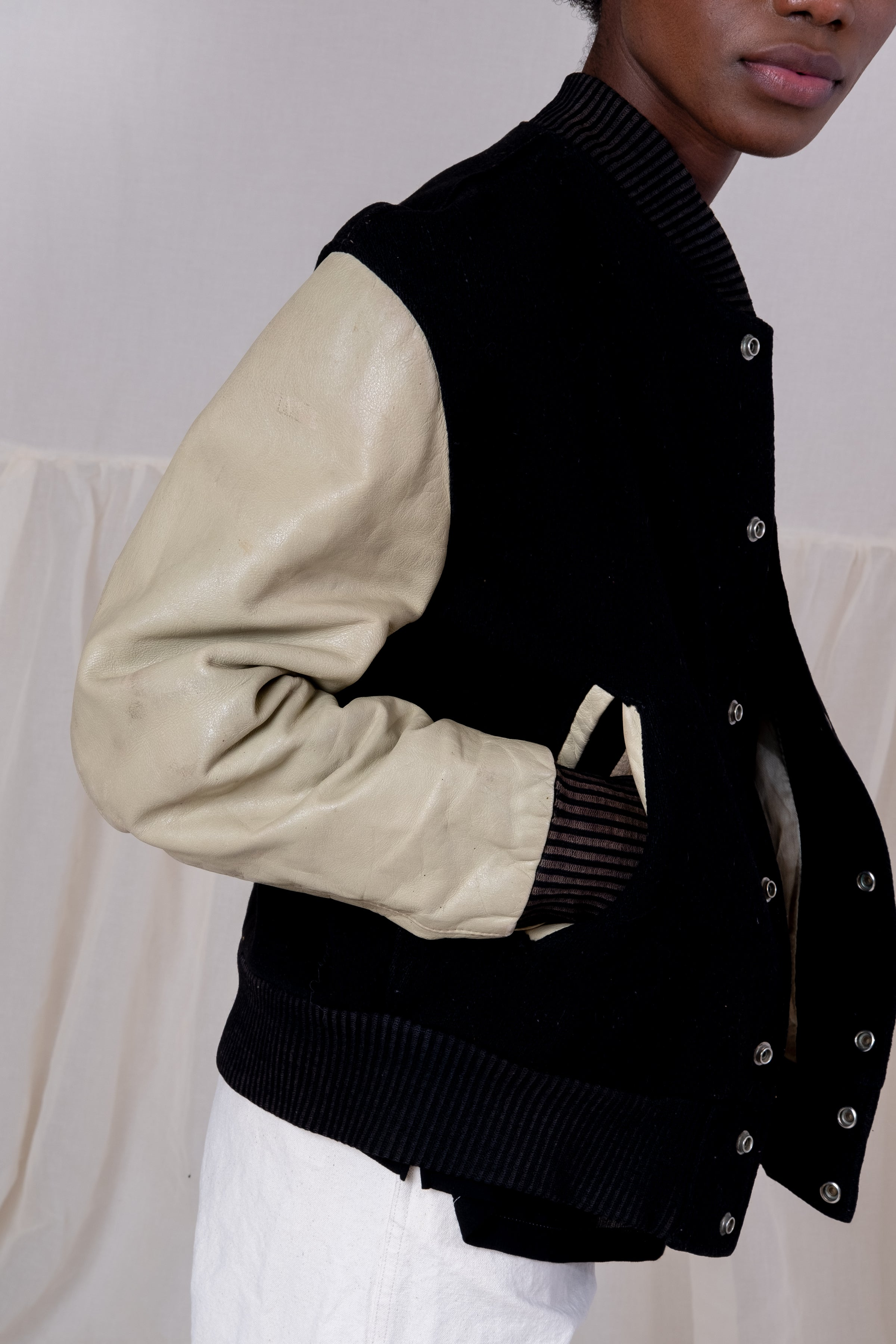 VINTAGE LEATHER LETTER JACKET
