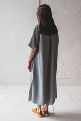SEYA DRESS IN GREEN GRAY