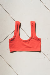 WIDE-STRAP BRA IN CADMIUM