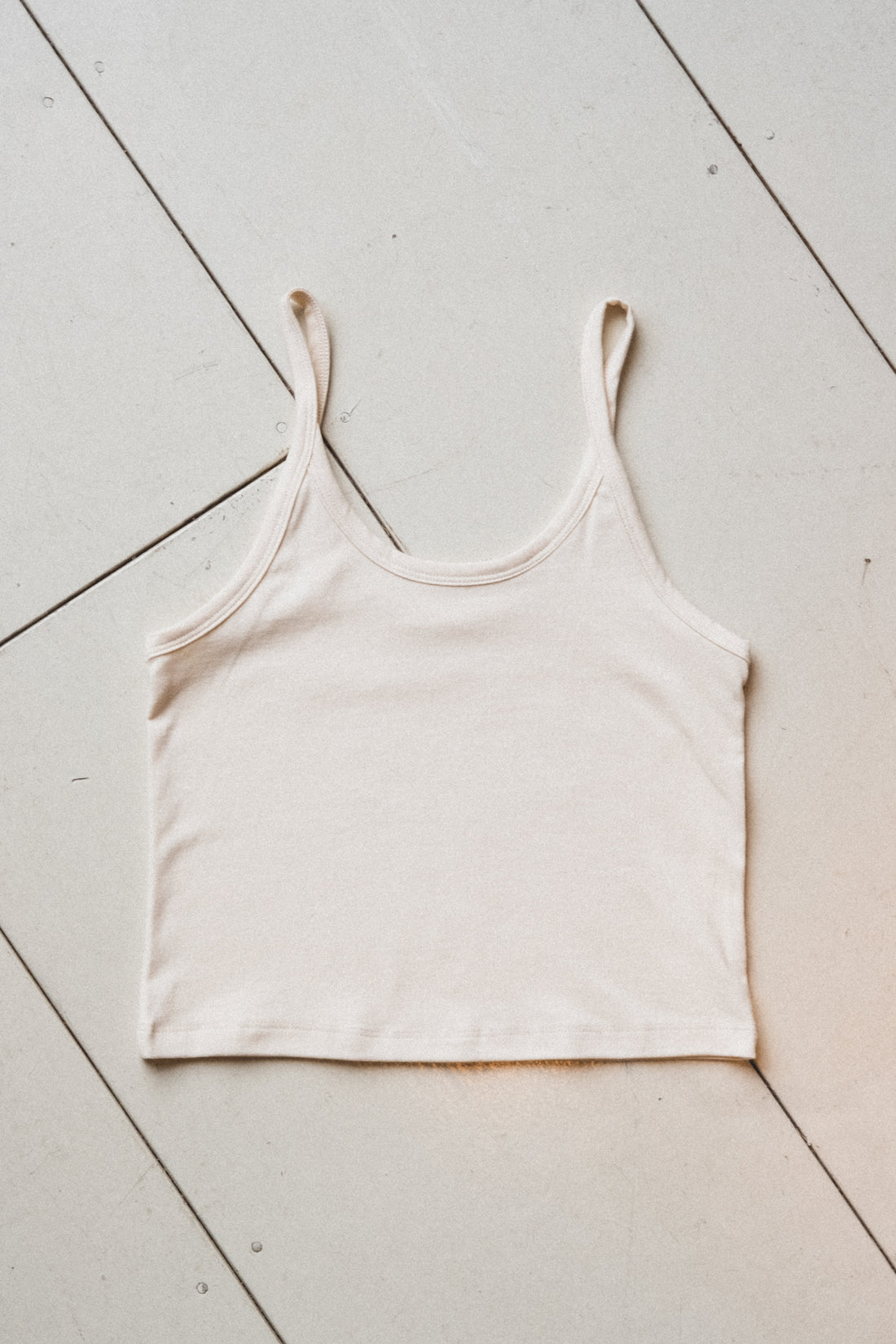CROP TANK IN COTTON