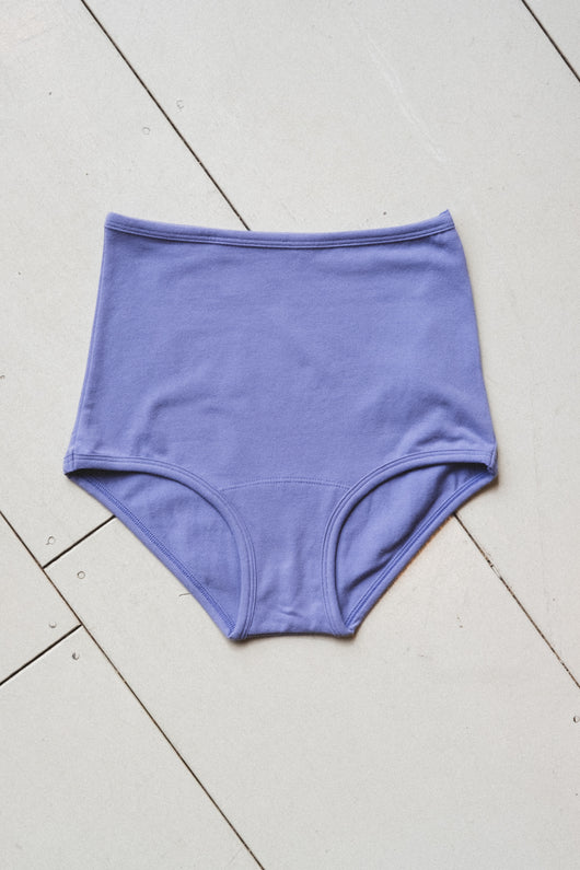 HIGH RISE UNDIES IN PERIWINKLE