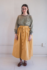 FLORET SKIRT IN YARROW BEDFORD CORD