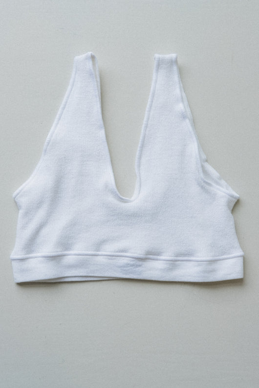 AID BRA IN OFF-WHITE BUCKLE KNIT COTTON