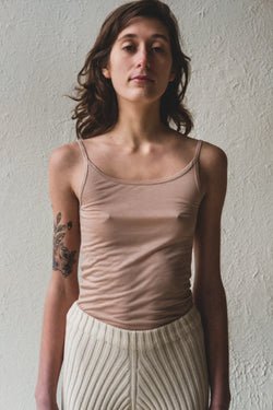 TANK TOP IN NUDE BAMBOO JERSEY