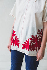 SETTING CUT-OUT APPLIQUE SHIRT