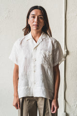 LACE CUTWORK SHORT SLEEVE SHIRT - ONE OF A KIND