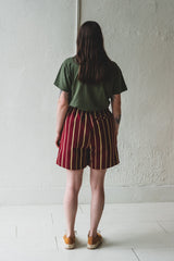 RUGBY SHORTS IN BURGUNDY COUNTRY CLOTH