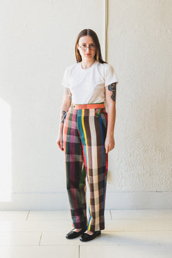 WORKSHOP PLAID TROUSER
