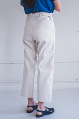 WORKER PANTS IN NATURAL CANVAS