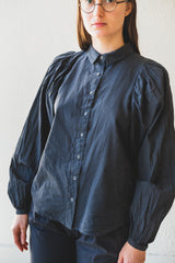 ALASTAIR SHIRT IN CHARCOAL BATISTE COTTON