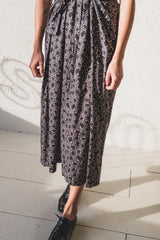 JOCELYN DRESS IN BLACK WOOL FLORAL