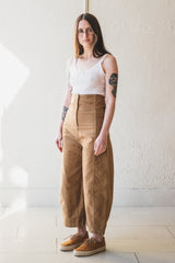 MORRIS PANT IN TOBACCO COTTON TWILL