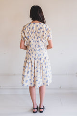 NAOMI DRESS IN SHIBORI COTTON SILK