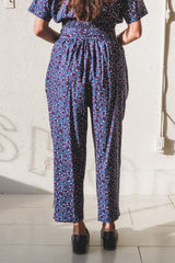 NICOLE PANTS IN MULBERRY FLORAL WOOL