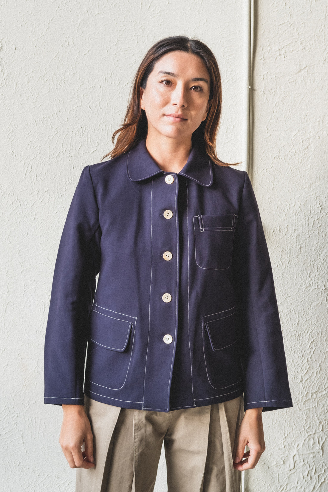 TOMO JACKET IN MIDNIGHT NAVY