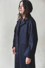 ANNIE OVERCOAT IN NAVY WOOL
