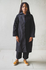 FARO OILSKIN MAC IN BLACK