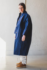 FARO OILSKIN MAC IN NAVY