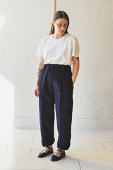 HOLLIE TROUSER IN NAVY CORDUROY