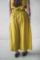 MAY TROUSER IN CHARTREUSE LINEN