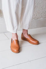 MEN'S HAND SEWN TAN SLIPPER