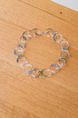 ORGANIC GLASS LINK CHOKER NECKLACE