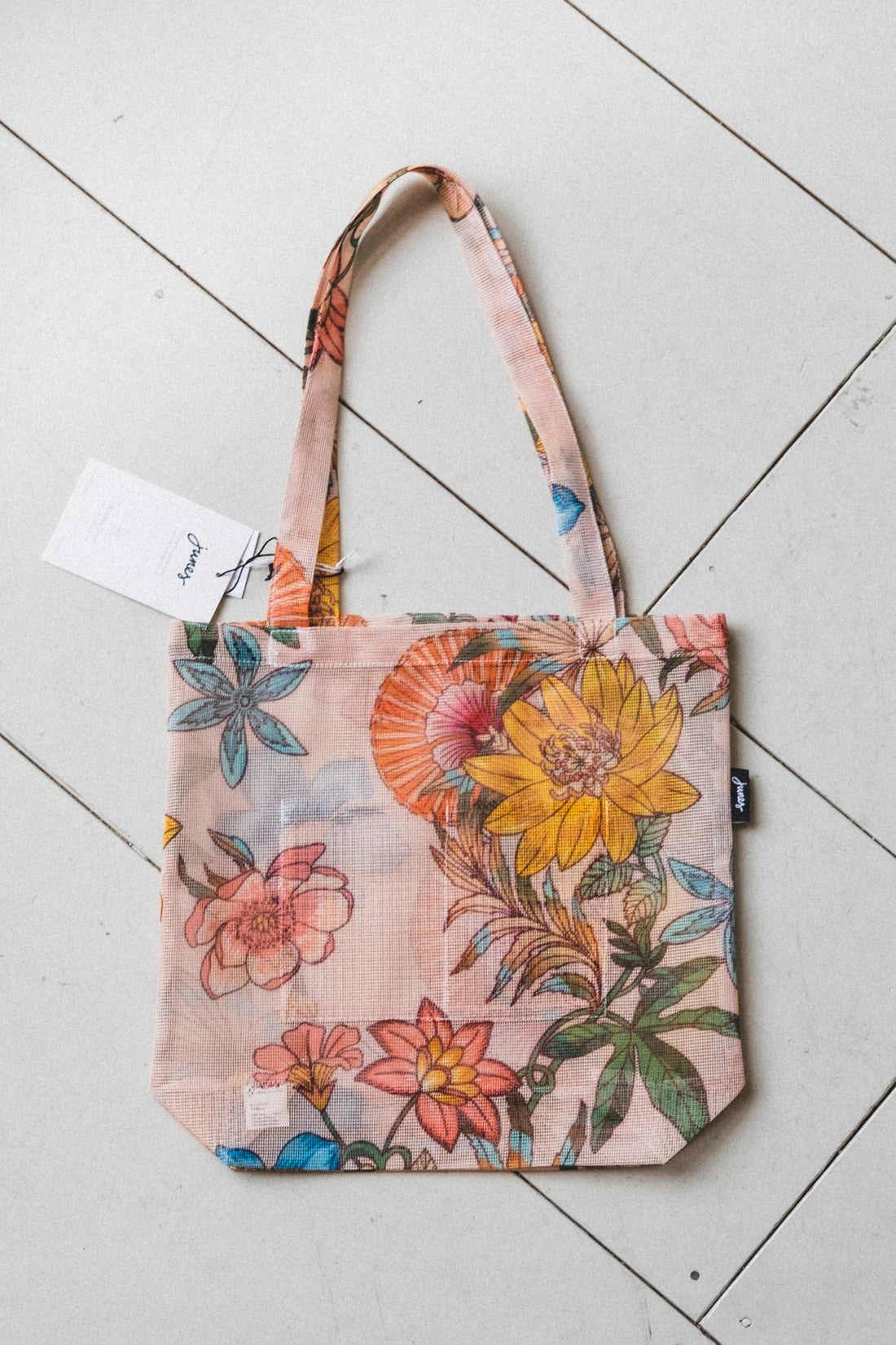 BIO-KNIT MARKET TOTE IN FLORAL