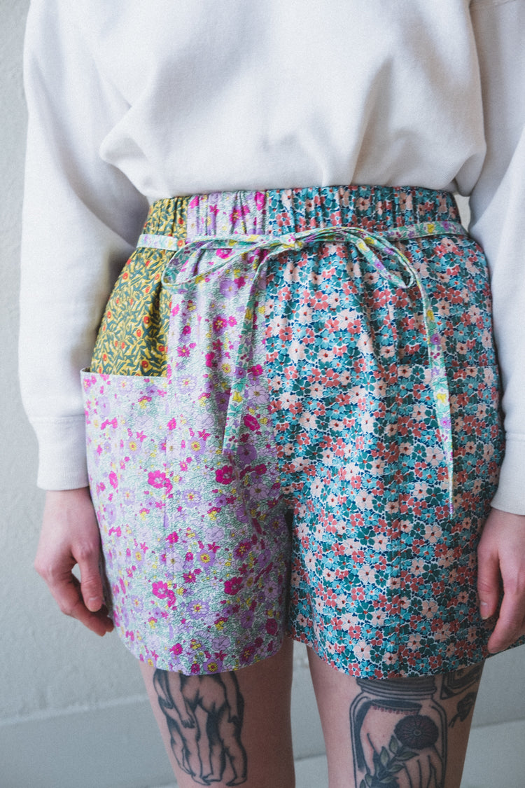 FLORAL PATCH SHORTS