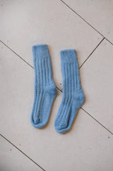 NATURAL DYED HAND KNIT SOCKS