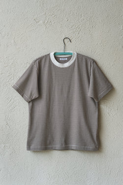 WAYDE STRIPE TEE SHIRT IN MOCHA
