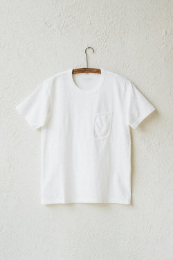 CLARK POCKET TEE IN WHITE