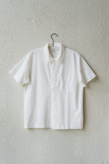 PIQUE POCKET POLO IN WHITE