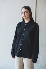 PLACKET POLO IN BLACK