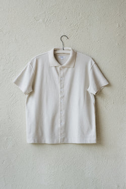 SHORT SLEEVE PLACKET POLO IN BONE